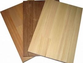 Два вида продукции мебельных щитов из лиственницы
