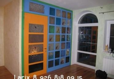 Двери и рамки из крашенной лиственницы