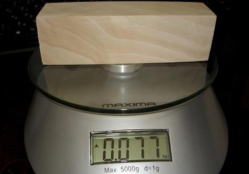 Определение влажности древесины взвешиванием