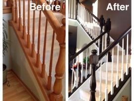 Как покрасить деревянную лестницу?
