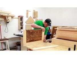 Шкаф из мебельного щита своим руками